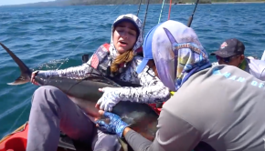 Kayak Fishing: Natalie's First Roosterfish (INSANE Fight!)