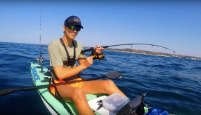Catching big Dageraad on a kayak - Offshore kayak fishing