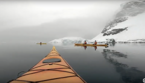 KAYAKING IN ANTARCTICA WITH WHALES