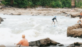 Men's Pro Stand Up Paddleboard Race at Riverfest 2019
