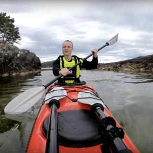 Solo sea kayak overnight adventure