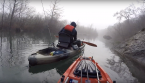 2v2 Riverbassin' style kayak fishing FACEOFF
