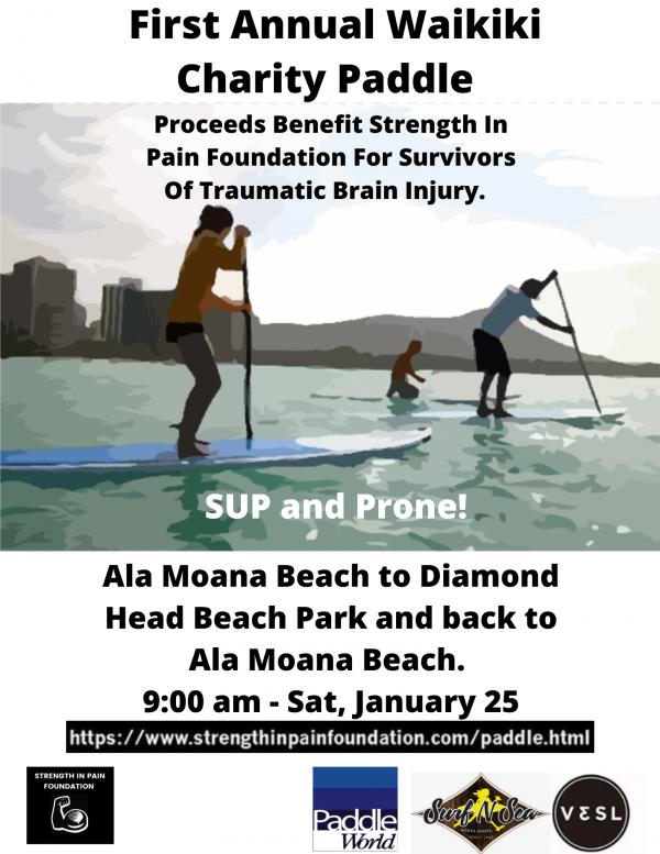Waikiki charity paddle 2019
