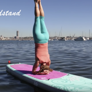 10 Yoga Positions on a stand up paddle board.