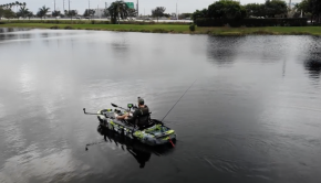 WATER REVIEW! BIG FISH 108 PRO FISH PEDAL Drive 3 WATERS KAYAK - SPEED TEST