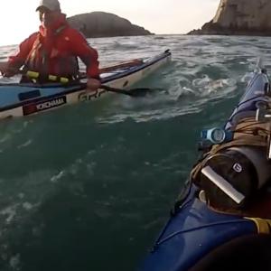 Sea Kayaking Anglesey - North Stack rockfall