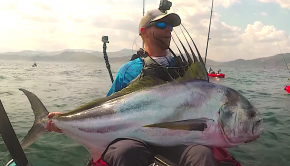 Watch Robert Field going toe-to-toe in Panama with quite possibly the strongest fish of his fishing career. This big boy pushed him to his limits for over half an hour, and let the crew to miss the window to make it back to the beach on time... but according to Robert 's stoke, it was worth-it!