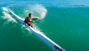 "The Mocke Bros took their Surfskis out to one of Cape Town's most renowned surf spots - the Crayfish Factory and caught a few bombs. ""We love surfski paddling and want everyone to get better at it, and this is the reason we launched our online surfski courses. Every paddler should be signed up!"""