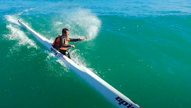 """The Mocke Bros took their Surfskis out to one of Cape Town's most renowned surf spots - the Crayfish Factory and caught a few bombs. """"We love surfski paddling and want everyone to get better at it, and this is the reason we launched our online surfski courses. Every paddler should be signed up!"""""""