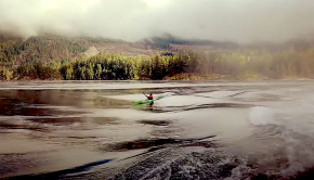 Skookumchuck Narrows with mike mcholm sea kayak surfing