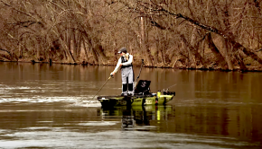 In the middle of Winter, Hobie Fishing Team member, Morgan traveled to Virginia to meet up with kayak angler, Kristine Fischer. These two anglers braved the cold in search of the famed muskellunge that inhabit the James River on their kayaks.