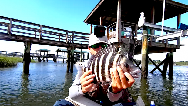Join Houston Stewart of @Beaufort SC Fishing as he goes shallow water fishing for sheepshead. He shares all his tips and tricks for catching the most fish!
