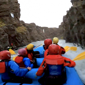 Ever wondered what it's like to go rafting at Midnight? Well, in most of the world you wouldn't see very much, but in Iceland, there is no difference from the day! Check it out!