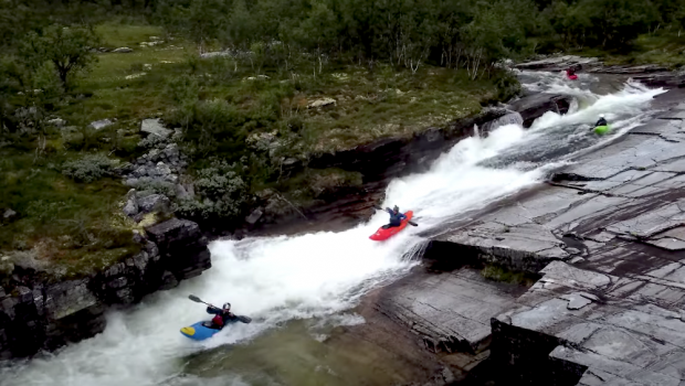 Follow the Senders on their return to Norway this summer, ripping up some classics like the Ula slides & Skjoli river…